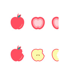 Apple fruit icons set design illustration isolated on white background, vector eps10