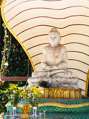 Buddha image in Yangon, Myanmar