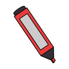 permanent marker school supply icon vector illustration design