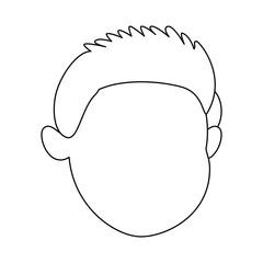 cute and little boy head vector illustration design