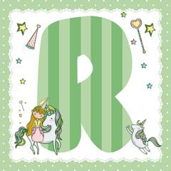 R alphabet letter for kids
