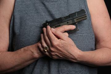 Woman holding a pistol