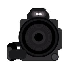 Photographic camera symbol vector illustration graphic design