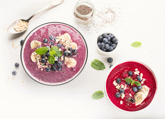 Berries smoothie for Healthy Breakfast.