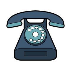 Vintage telephone symbol vector illustration graphic design