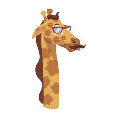 Stylish giraffe cartoon vector illustration graphic design