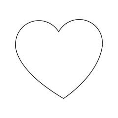 Heart love symbol vector illustration graphic design