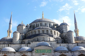 The famous Turkish Muslim shrine. The Blue Mosque (Sultanahmet Kami), Istanbul.