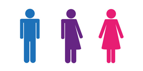 piktogramm drei geschlechter sexuelle identität