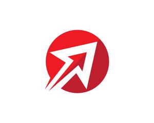 Arrow vector illustration icon Logo