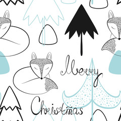 Christmas and new year vector seamless patterns