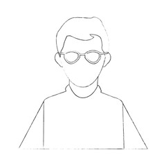 Scientific avatar cartoon icon vector illustration graphic design