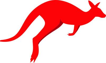 Red Kangaroo Silhouette