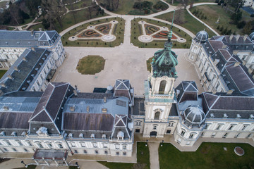 Aerial phooto of Festetics Castle in Keszthely