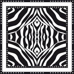Silk scarf with zebra print.