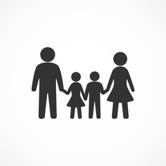 Vector image of a family icon.