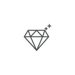 diamond icon. sign design