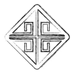 Chinese rhombus sign icon vector illustration graphic design