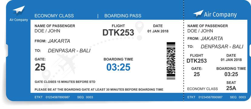 Boarding pass design background. Vector illustration of airline boarding pass. Boarding pass ticket.