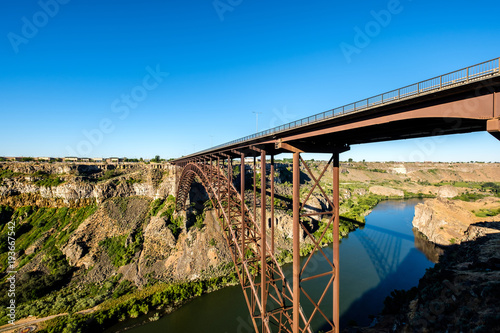 Snake River And Perrine Bridge Near Twin Falls Idaho Stockfotos