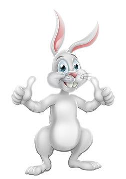 Cartoon Easter Bunny Rabbit Giving Thumbs Up