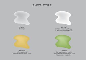 snot type vector .mucus