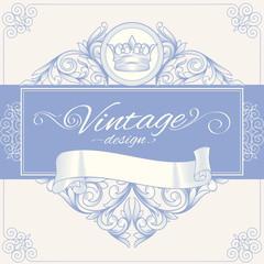 Ornate vintage decorative blank