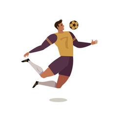 Soccer player forward. Football. Flat vector illustration. Design element.