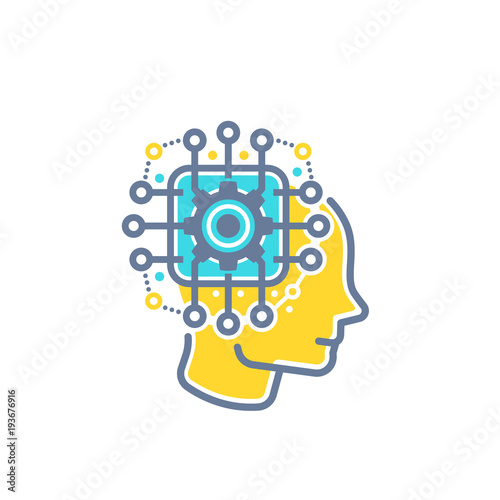 Machine Learning Artificial Neural Network Ai Vector Illustration
