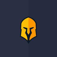 Spartan helmet vector logo