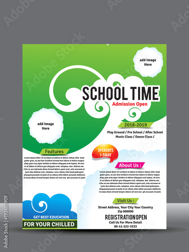 School or collage flyer or poster design template