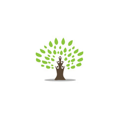 Abstract tree and people logo template