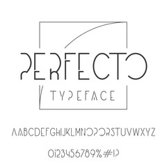 Perfecto typeface. Elegant font with golden ratio logo.