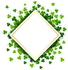St. Patricks Day, abstract background with paper. Vector illustration