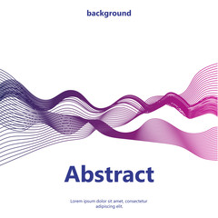 Business background lines wave abstract stripe design. Abstract vector illustration