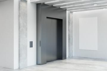 Modern office interior with elevator