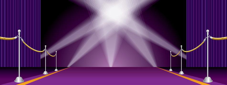 spots on wide purple carpet