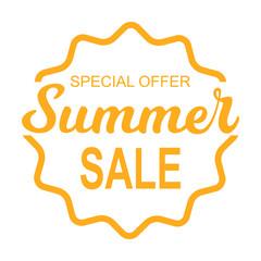 Summer sale sticker template design