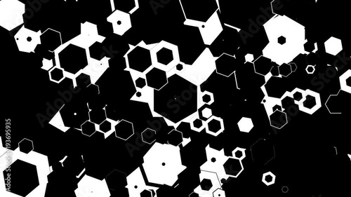 Animation of Multiple triangles in Random Shape Loop
