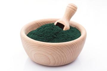 bowl of spirulina