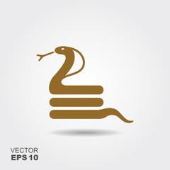 Flat cobra icon