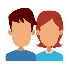 Cute couple cartoon icon vector illustration graphic design