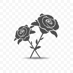 Roses icon isolated on transparent background.