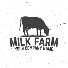 Milk Farm Badge or Label.