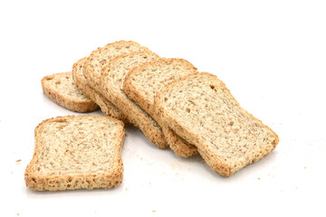 whole wheat biscuits isolated on white background