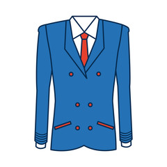 pilot captain aviator uniform coat vector illustration
