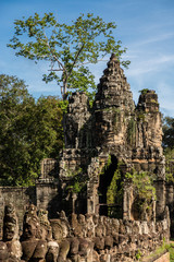 South gate of Angkor Thom in Cambodia