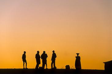 herero people in Kaokoland, Namibia