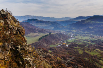 Above view of Dzoraget river's gorge, Armenia