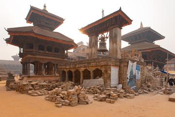 Bhaktapur temple ruins Nepal